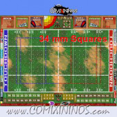 34 mm Basic Plastic Gaming Mat with BB7 and Parallel Dugouts - Comixininos