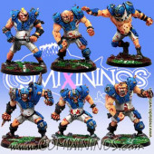 Ogres - Ogre Team of 6 Players - Meiko Miniatures