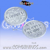 Set of 3 Prone / Stunned Coin Markers - Tabletop Arts