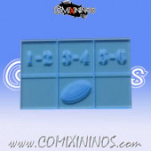 Fantasy Football Throw In Template - Fluorescent Blue