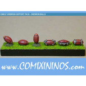 Footballs Set of 6 - Shadowforge