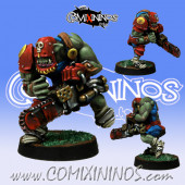 Orcs - Volgrok Chainsaw Star Player - Meiko Miniatures