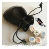 Large Leather Dice Bag - Black
