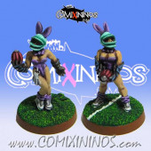 Amazons / Humans - Bunny Throwers Set of 2 - Shadowforge
