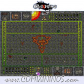 29 mm Ratmen Plastic Gaming Mat with Crossed Dugouts - Comixininos