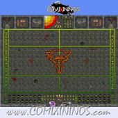 29 mm Ratmen Plastic Gaming Mat with Parallel Dugouts - Comixininos