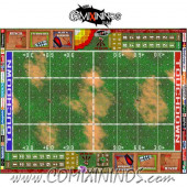 29 mm Basic Plastic Gaming Mat with Crossed Dugouts - Comixininos