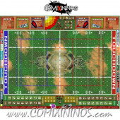 29 mm Skulls Plastic Gaming Mat with BB7 and Parallel Dugouts - Comixininos