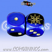 Set of 2d6 Evil Dice - Willy