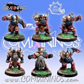 Evil Dwarves - Set of 6 Evil Dwarf Blockers - Meiko Miniatures