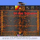 34 mm Lava Plastic Gaming Mat with Parallel Dugouts - Comixininos