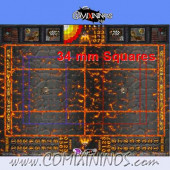 34 mm Lava Plastic Gaming Mat with BB7 and Parallel Dugouts - Comixininos