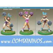Humans - Bunny Cheerleaders Set of 3 - Shadowforge