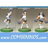 Humans - Nun Cheerleaders Set of 3 - Shadowforge
