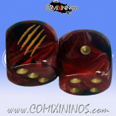 Set of 2d6 Claws Dice - Meiko