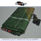 Synthetic Cloth Canvas Gaming Mat with Skulls - Comixininos