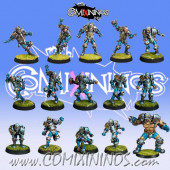 Humans - Team of 15 Players with Ogre - Willy Miniatures