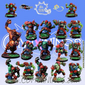 Orcs - Complete Team of 16 Players with Troll - Meiko Miniatures