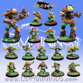 Halflings - Complete Ultimate Team of 16 Players with two Treemen - Willy Miniatures