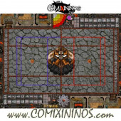 29 mm Evil Dwarf Plastic Gaming Mat with BB7 and Crossed Dugouts - Comixininos