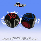 Set of 2 Meiko Weather Dice - Black