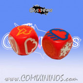 Set of 2 Meiko Weather Dice - Red