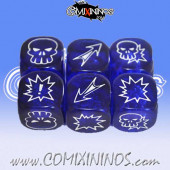 Set of 3 Meiko Block Dice - Translucent Blue