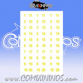 Number Decal Template nº 1 - Yellow