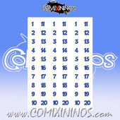 Number Decal Template nº 12 - Blue