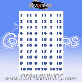 Number Decal Template nº 5 - Blue