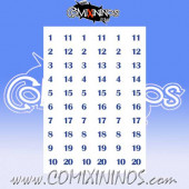 Number Decal Template nº 8 - Blue