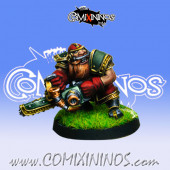 Dwarves - Dwarf Chainsaw Star Player - Willy Miniatures