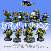 Dwarves - Dwarf Football Team of 10 Players - Scibor Miniatures