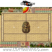 29 mm Egyptian Tomb Kings Plastic Gaming Mat with Crossed Dugouts - Comixininos