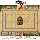 29 mm Egyptian Tomb Kings Plastic Gaming Mat with BB7 and Crossed Dugouts - Comixininos