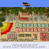 Egyptian Tomb Kings  Plastic Dugout with 3 Sections - Comixininos