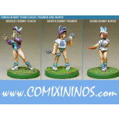 Humans - Bunny Trainer Coach Nurse Set of 3 - Shadowforge