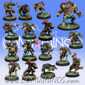 Ratmen - Complete Team of 16 Players with Rat Ogre - Meiko Miniatures