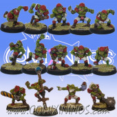 Goblins - Team of 14 Players with Secret Weapons - Willy Miniatures