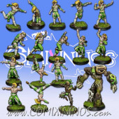 Wood Elves - Cabiri Team of 16 Players with Treeman - MK1881