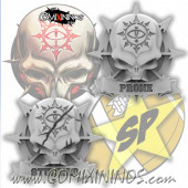 Set of 3 Prone/Stunned Tokens for Evil Pact Big Guys - SP Miniaturas