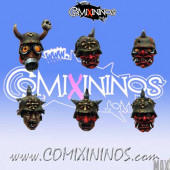 Fallen Legionnaire Heads Set of 10 - MaxMini