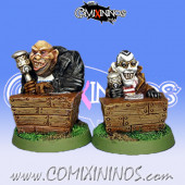 Set of 2 Fantasy Football Commentators - Fanath Art