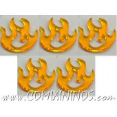 Fire Tokens (Set of 5) - Litko