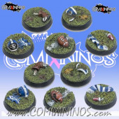 Set of Five 25 mm Fantasy Football Bases - Tabletop Arts