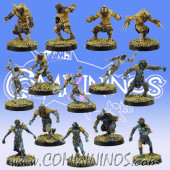 Frogmen - Deep Ones Frogmen Team of 14 Players - SP Miniaturas