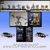 Goblins - Team of 16 Players with Two Trolls - Willy Miniatures