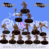 Goblins - Team of 14 Players without Trolls - Uscarl Miniatures