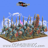 Lizardmen - Lizardmen Saurus Warrior Regiment - Games Workshop