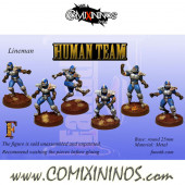 Humans - Set of 6 Human Linemen - Fanath Art